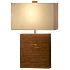 Rift Bamboo Reclining Table Lamp