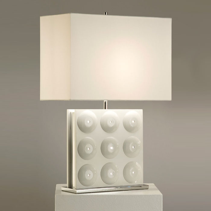 Trudy Standing Table Lamp in White