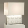 Trudy Reclining Table Lamp in White