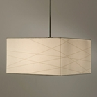 Criss Cross Large Pendant in White