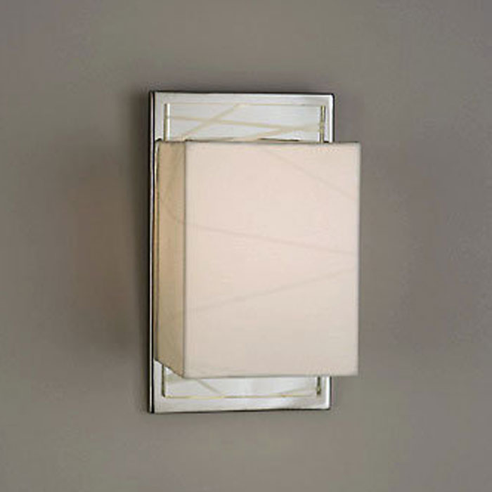 Criss Cross Sconce in White - NL-11899