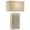 Rift Standing Table Lamp in White