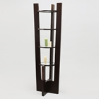 Round Etagere in Dark Brown