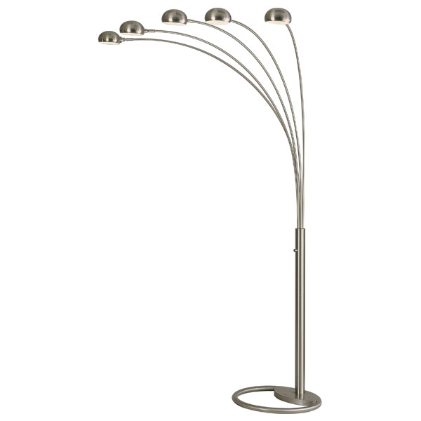 Mushroom 5-Light Arc Lamp in Brushed Nickel