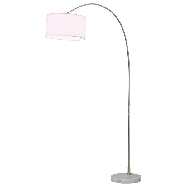 Float Art with White Cotton Shade Floor Lamp