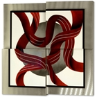 Square Ribbons Wall Graphic