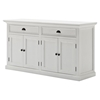 Halifax Classic Buffet Table - Pure White