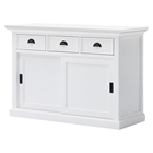 Halifax Buffet with Sliding Doors - Pure White