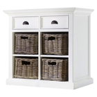 Halifax Medium Buffet with Basket Set - Pure White