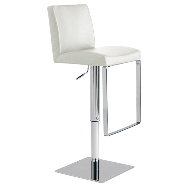 Matteo Adjustable Leather Piston Stool - Swivel - NVO-HGAF1XX-PS