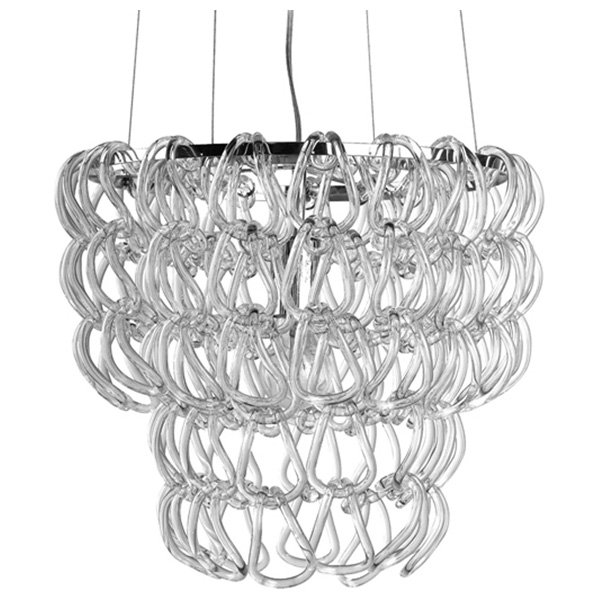 Letizia Petite Glass Chain Chandelier