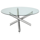 Siena Round Modern Glass Dining Table