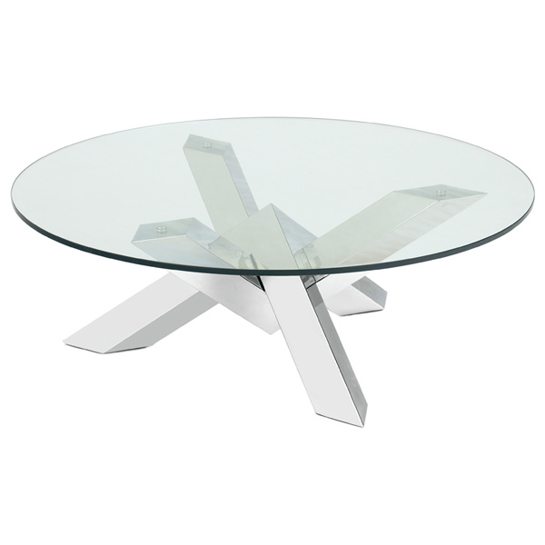 Costa Round Glass Cocktail Table