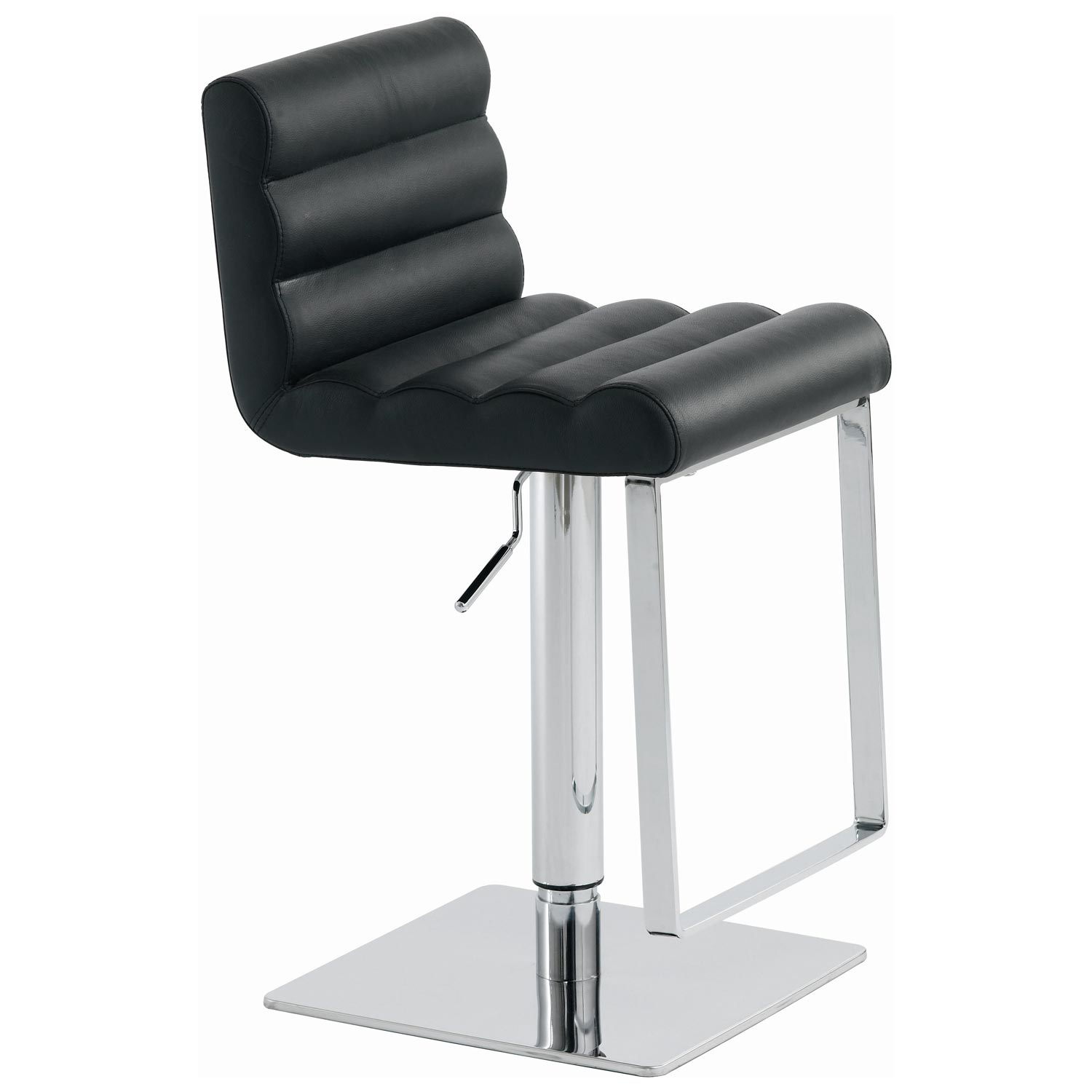 Fanning Leather Piston Stool