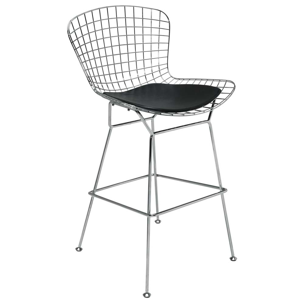 "Wireback 28.5"" Chrome Barstool - NVO-HGGAXXX-BS"