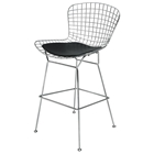 Wireback Chrome Counter Chair