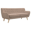 Ida Button Tufted Upholstery Sofa - Light Sand