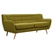 Ida Button Tufted Upholstery Sofa - Avocado Green - NYEK-223305