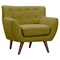 Ida Button Tufted Upholstery Armchair - Avocado Green - NYEK-223307