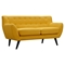 Ida Button Tufted Upholstery Loveseat- Papaya Yellow - NYEK-223310