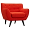 Ida Button Tufted Upholstery Armchair - Retro Orange - NYEK-223315