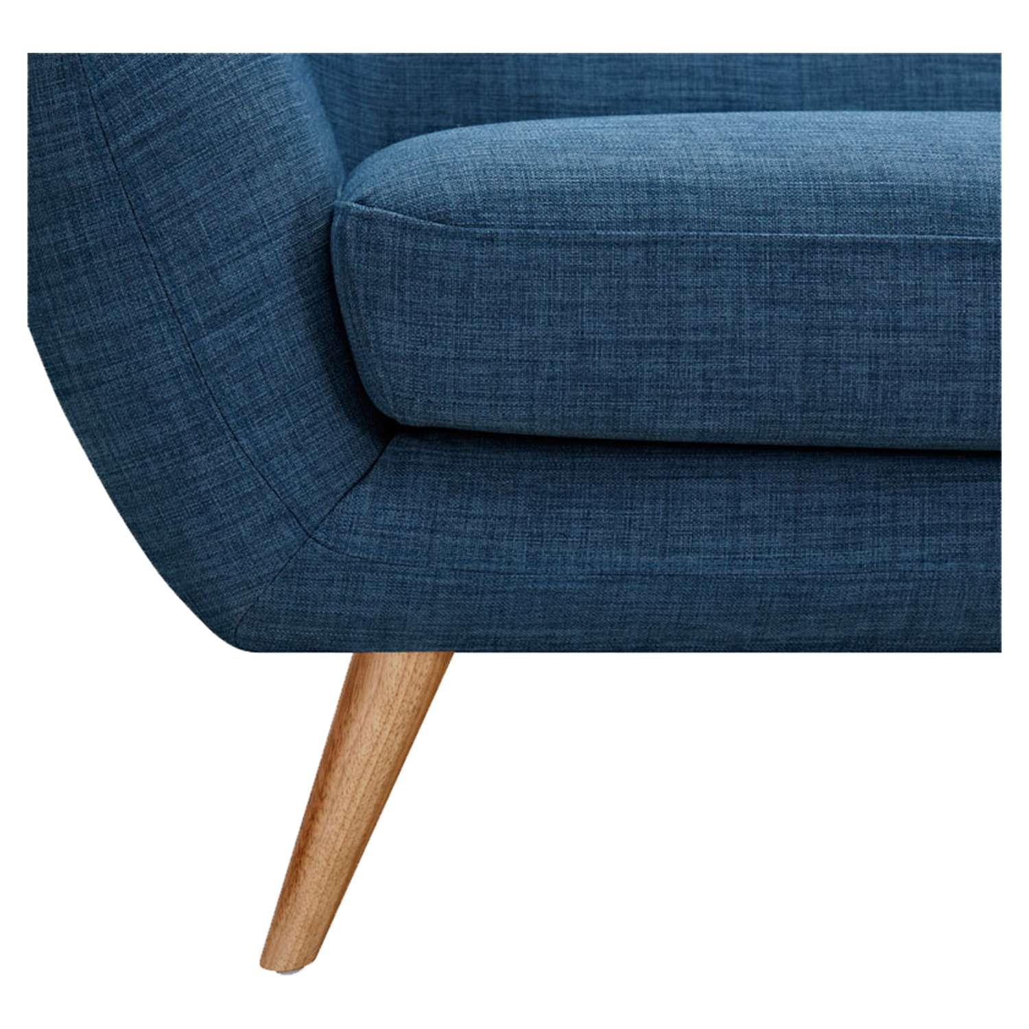 Ida Button Tufted Upholstery Armchair - Stone Blue - NYEK-223319
