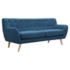 Ida Button Tufted Upholstery Sofa - Stone Blue