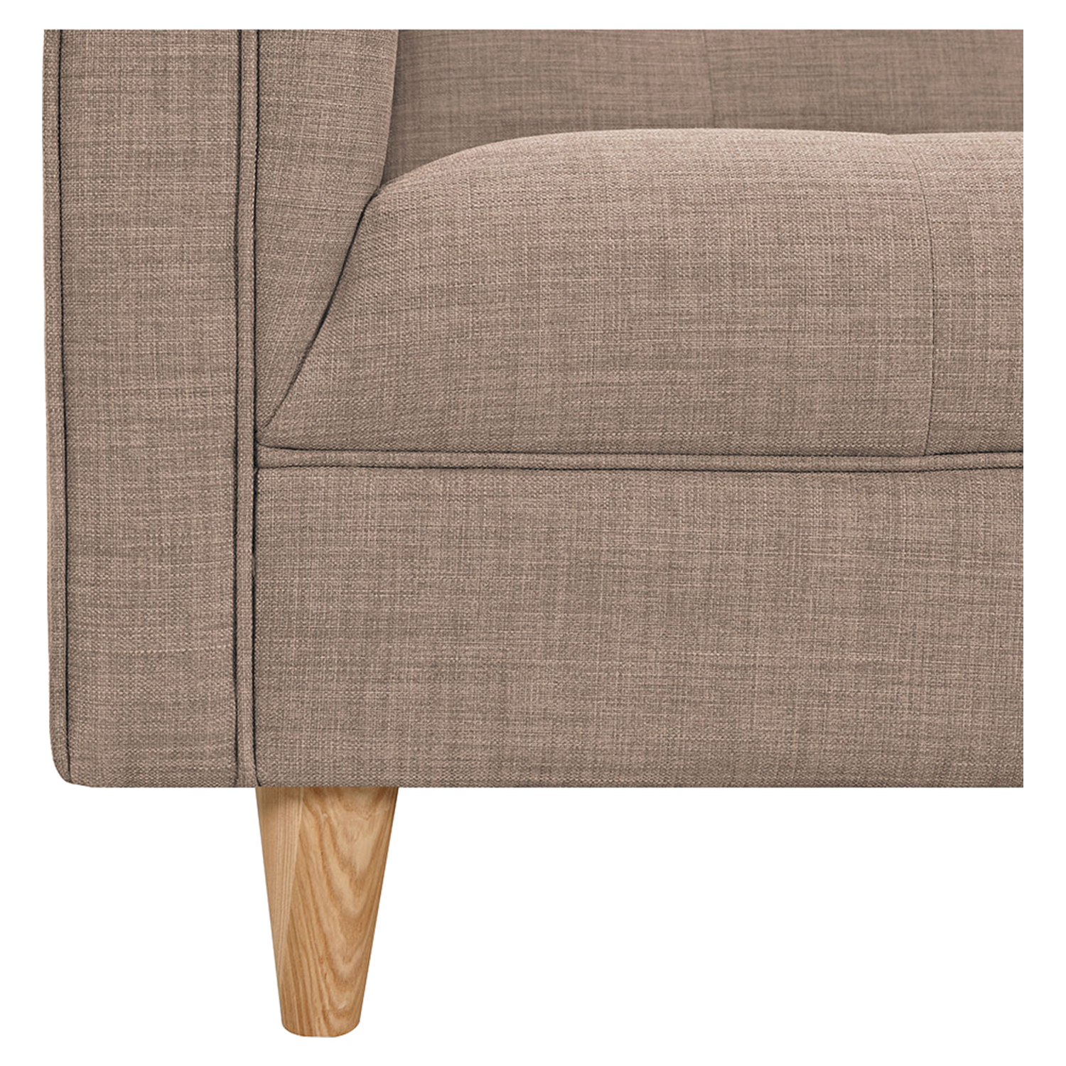 Kaja Armchair - Light Sand, Tufted - NYEK-223326