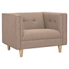 Kaja Armchair - Light Sand, Tufted