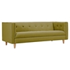 Kaja Sofa - Avocado Green, Tufted