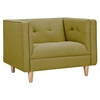 Kaja Armchair - Avocado Green, Tufted