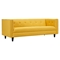 Kaja Sofa - Papaya Yellow, Tufted - NYEK-223331