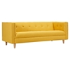 Kaja Sofa - Papaya Yellow, Tufted