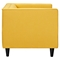 Kaja Armchair - Papaya Yellow, Tufted - NYEK-223332