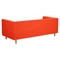 Kaja Sofa - Retro Orange, Tufted - NYEK-223334