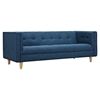 Kaja Sofa - Stone Blue, Tufted