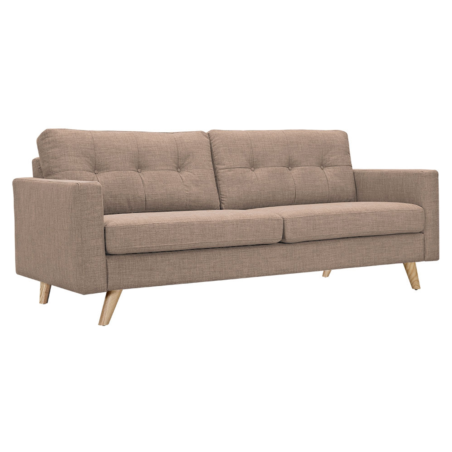 Uma Sofa - Light Sand, Button Tufted