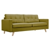 Uma Sofa - Avocado Green, Button Tufted