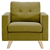 Uma Armchair - Avocado Green, Button Tufted