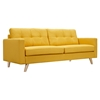 Uma Sofa - Papaya Yellow, Button Tufted