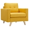 Uma Armchair - Papaya Yellow, Button Tufted - NYEK-223350