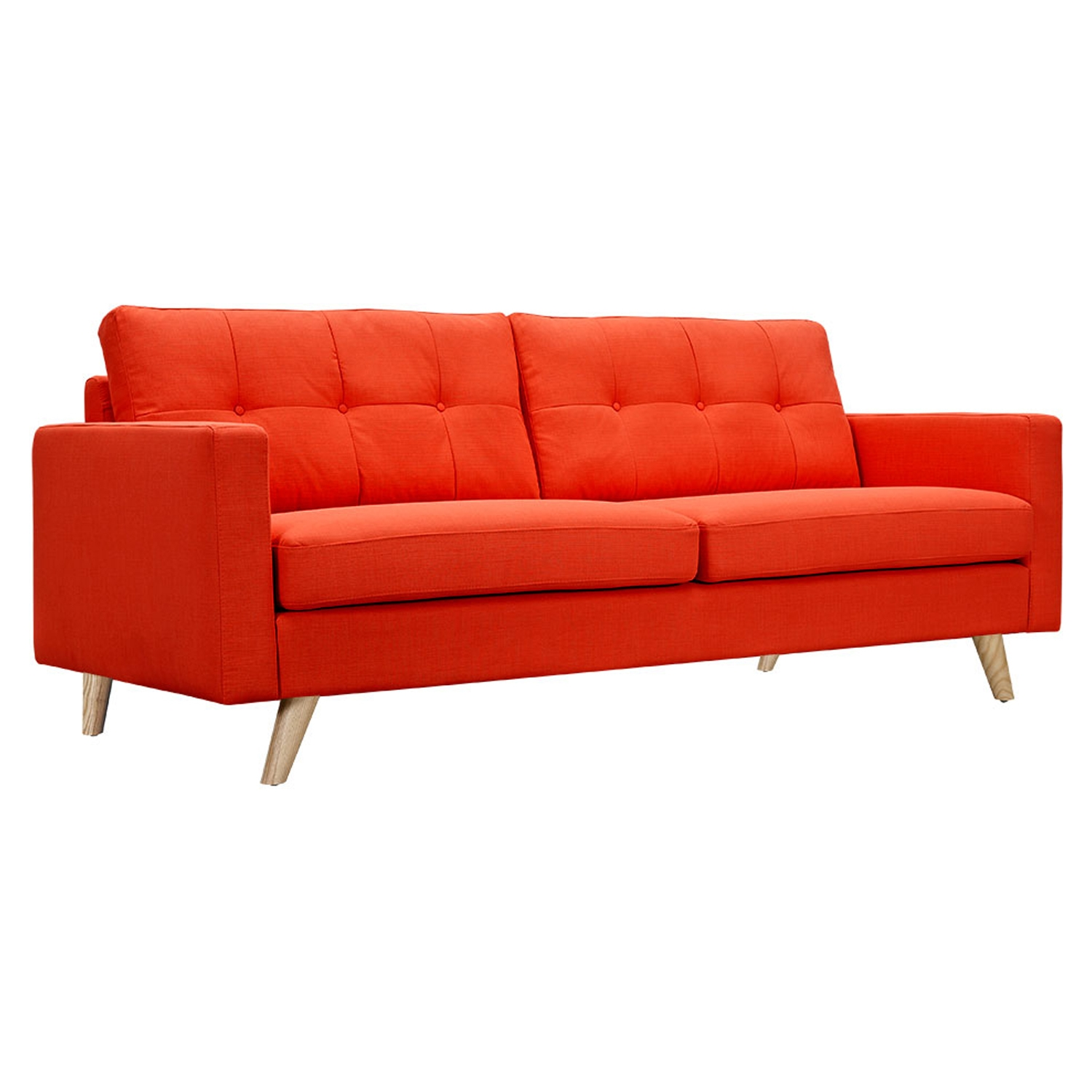 Uma Sofa - Retro Orange, Button Tufted
