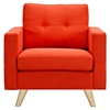 Uma Armchair - Retro Orange, Button Tufted
