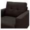 Uma Armchair - Mocha Brown, Button Tufted - NYEK-223362