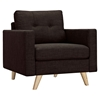 Uma Armchair - Mocha Brown, Button Tufted