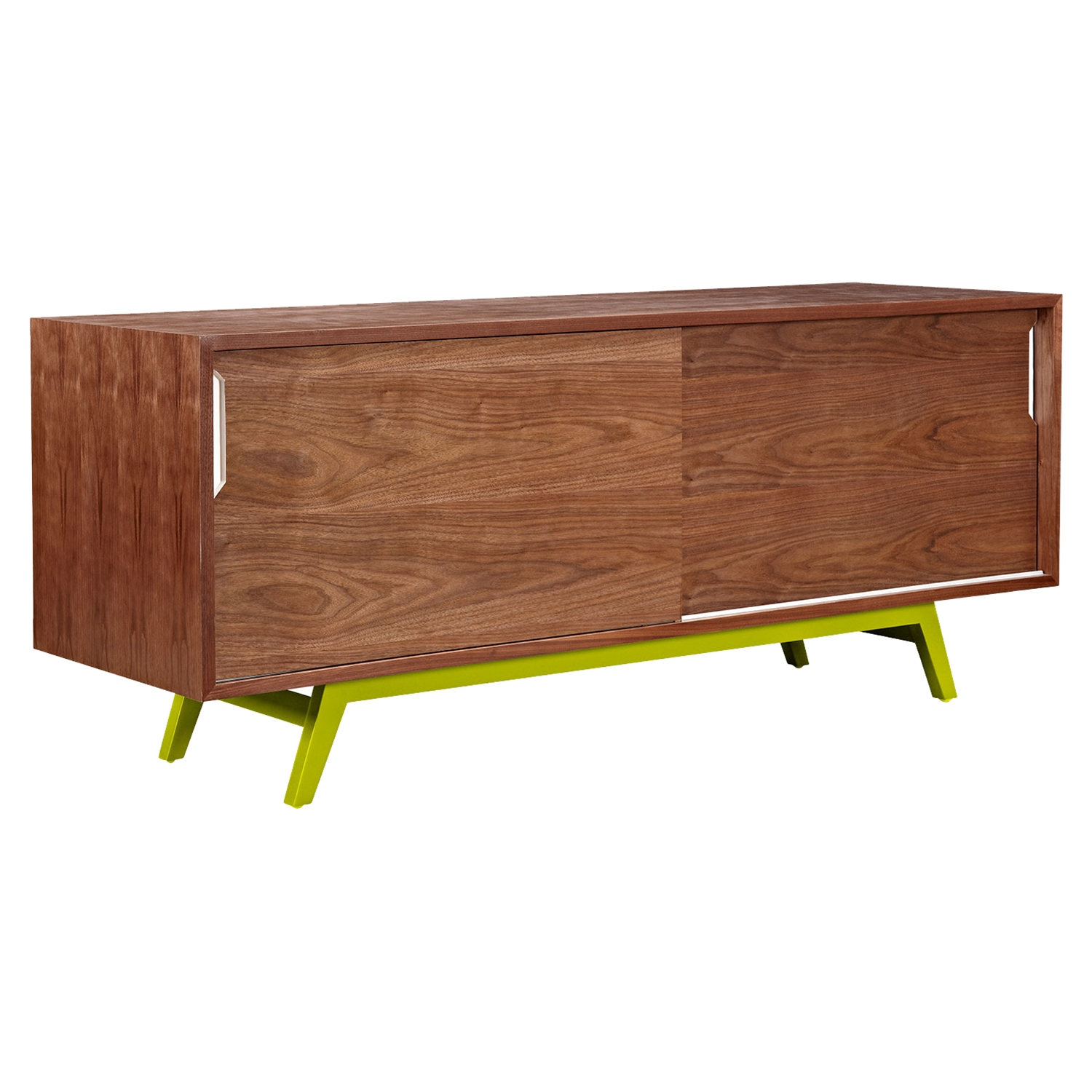 Elsa 2 Sliding Doors Sideboard - Walnut - NYEK-224404