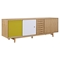Alma 7 Drawers Sideboard - Natural with Green Door - NYEK-224405-NG
