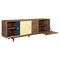 Alma 2 Sliding Doors Sideboard - Walnut with Teal Door - NYEK-224407-WT