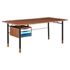 Soren Desk - Walnut and Blue