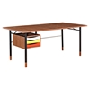 Soren Desk - Walnut and Red
